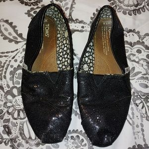Free with purchase Toms black shoes